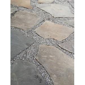 Rudos akmens plokštės 2-4 cm, kg